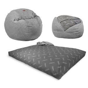 CordaRoy's - Charcoal Chenille Convertible Bean Bag Chair
